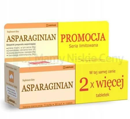 Asparaginian 50 tabletek + 50 tabletek