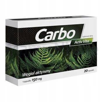 Carbo ActivVita 150mg 20 kapsułek