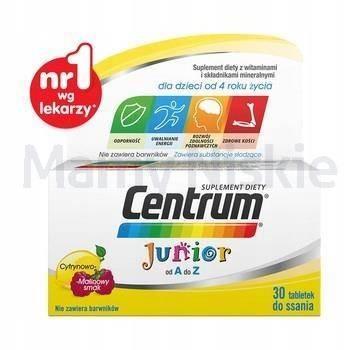 Centrum Junior 30 tabletek do ssania