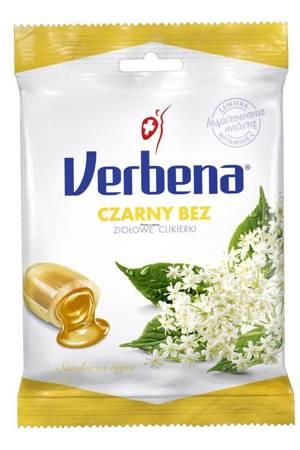 Cukierki ziołowe VERBENA czarny bez 60 g
