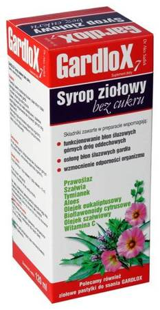 Gardlox syrop ziołowy  bez cukru 120 ml
