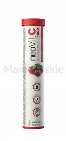 NeoVit C 1000 smak żurawinowy 20 tabletek musujących