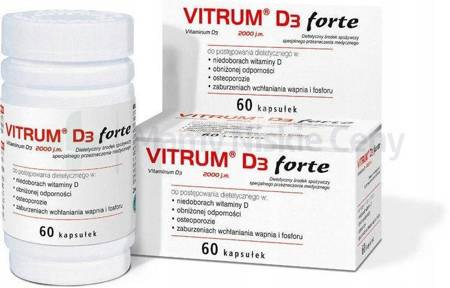 Vitrum D3 Forte 60 kapsułek