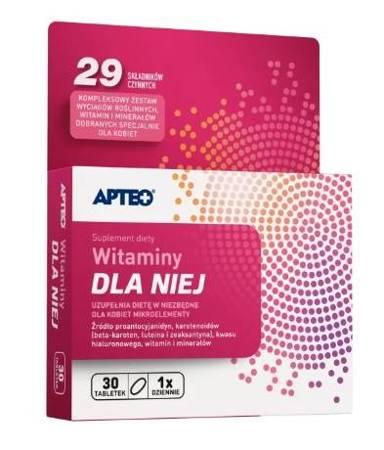 Witaminy dla Niej APTEO 30 tabletek